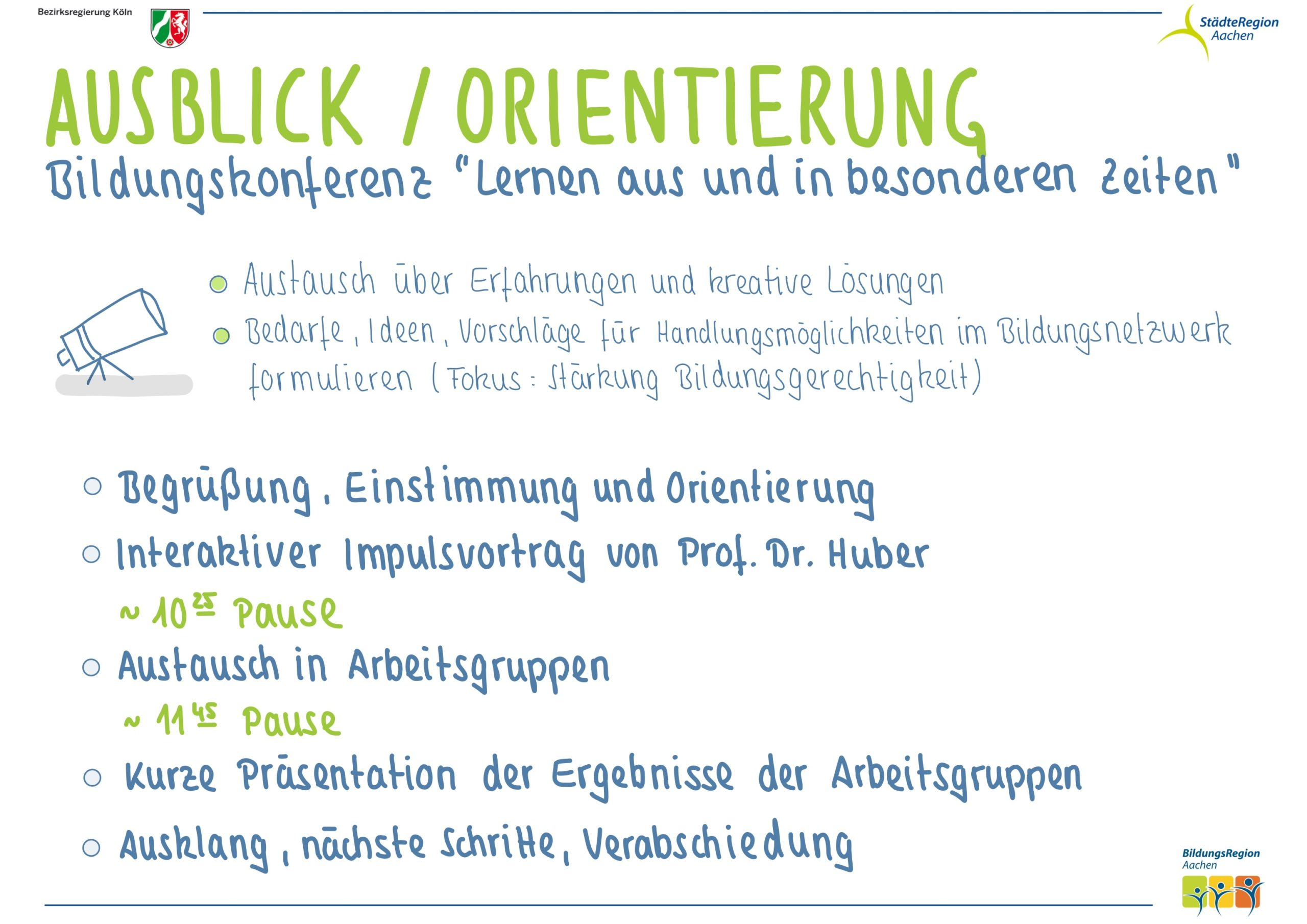 Ausblick / Orientierung Bildungskonferenz