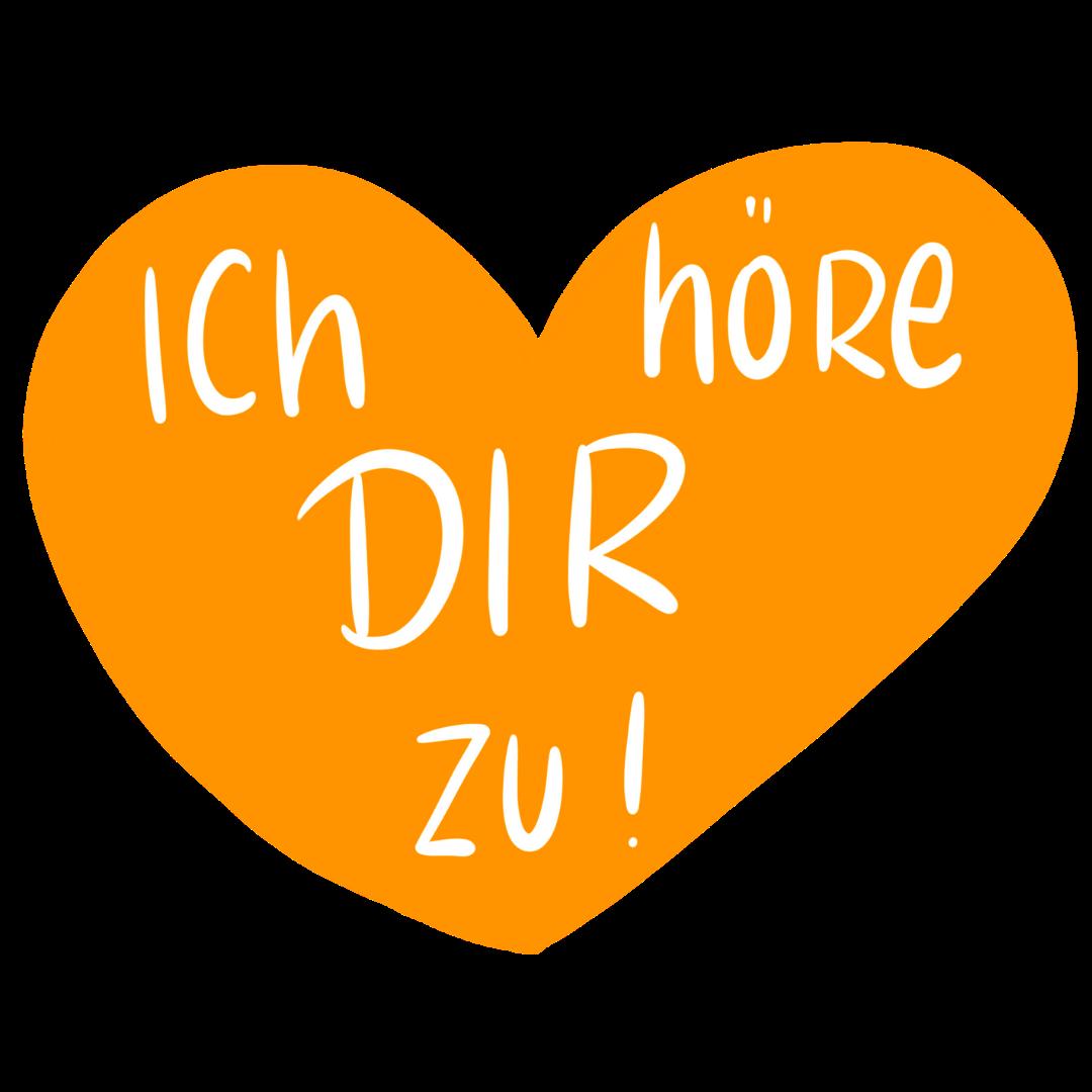Christine von fragstein - Zuhören draußen - Düsseldorf -Herz ich höre dir zu